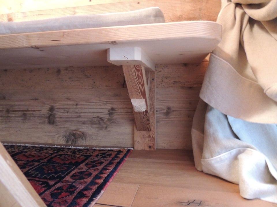 panca in legno per casa di montagna_falegnameria Bariza