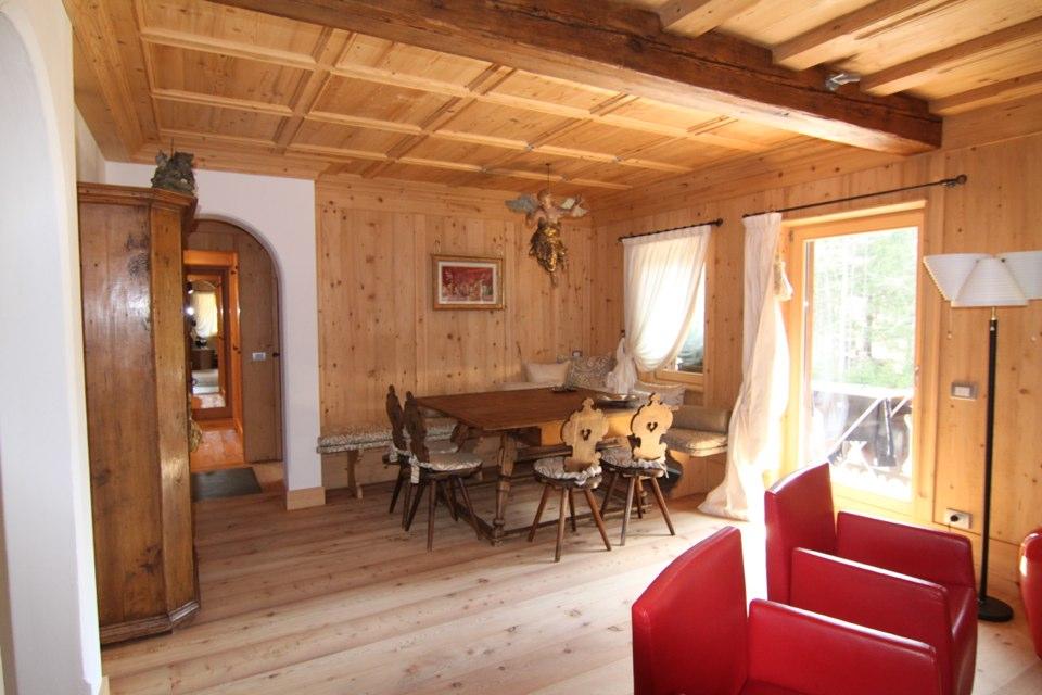 interno Chalet di montagna_falegnameria Bariza