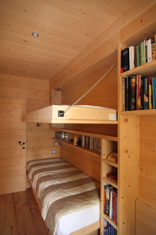 camera con letto a castello in legno su misura_Falegnameria Bariza