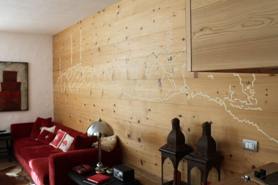 decoro di parete salotto_falegnameria Bariza