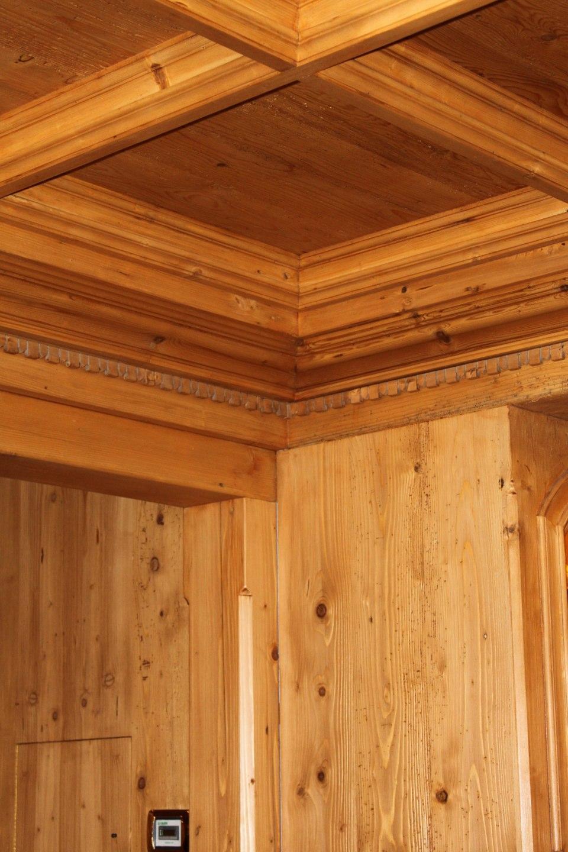 controsofitto a cassettoni in legno_falegnameria Bariza