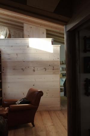 sala lettura in legno_falegnameria Bariza