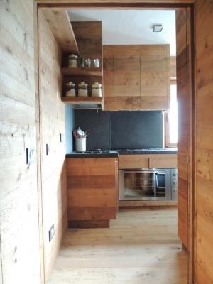 cucina contemporanea in legno_falegnameria Bariza