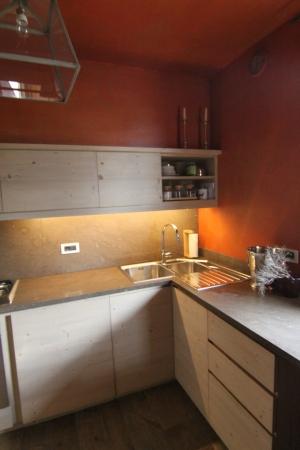 cucina con piano unico_falegnameria Bariza