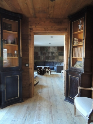 Corridoio casa di montagna_falegnameria Bariza
