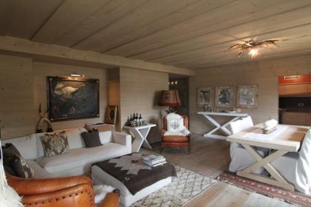 salotto in legno Chalet di montagna_falegnameria Bariza
